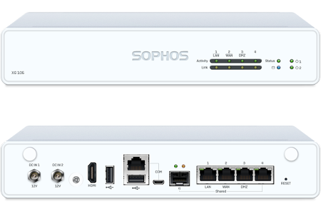 Sophos XG 106 Front and Back View