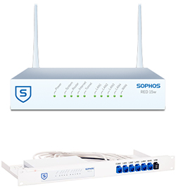 Sophos RED 15 Wireless Appliance Bundle with Rackmount Kit